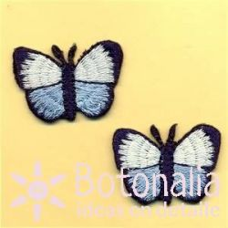 White and blue butterflies