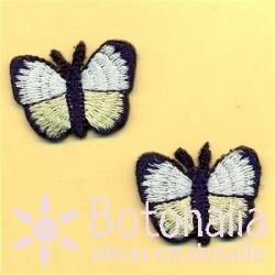 Mariposas en blanco y amarillo