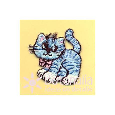 Kitty in blue