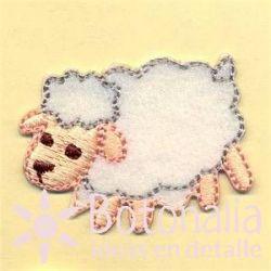 Little lamb in white