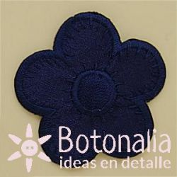 Flower in navy blue