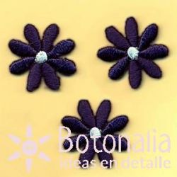 Daisies in dark blue