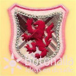 Emblem with lion rampant