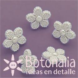 Flor color perla 13 mm