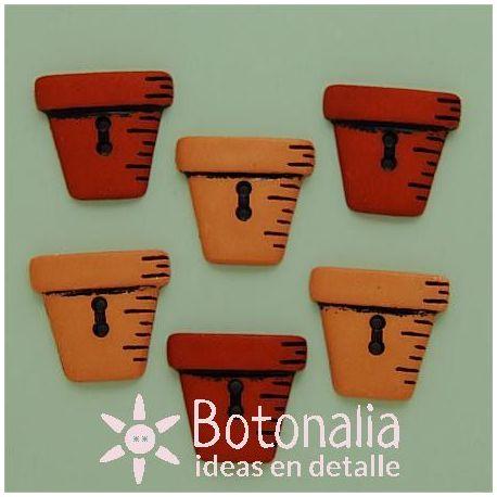 Dress-it-Up - Button Fun - Flower pots