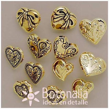 Dress-it-Up - Small Gold Hearts