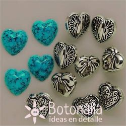 Dress-it-Up - Small Silver Hearts
