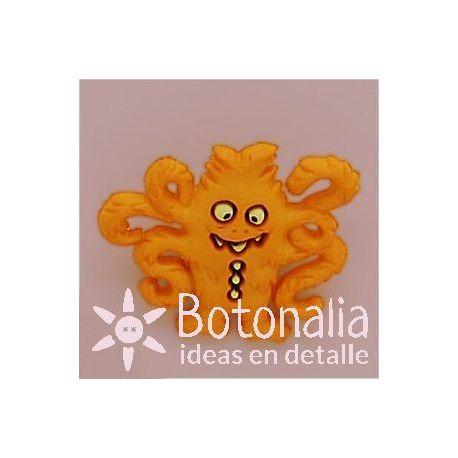 Monstruo naranja con tentáculos
