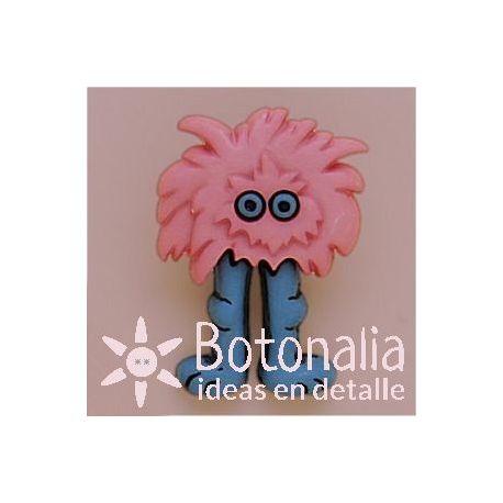 Monstruo rosa con patas azules