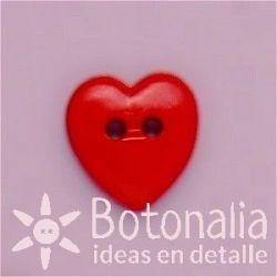 Corazón rojo 13 mm