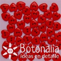 Dress-it-Up - Corazones rojos de 10 mm
