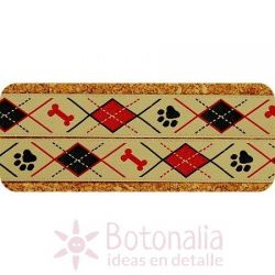 Cinta Tan/Red/Black Doggy Argyle