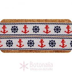 Ribbon Navy & red Nautical