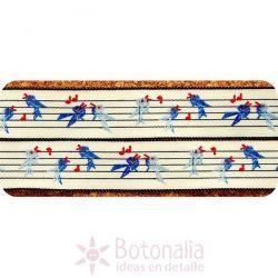 Ribbon Blue Singing Bird