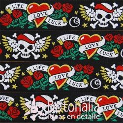 Ribbon Life-Love-Luck Tattoo