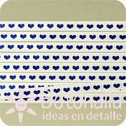 Ribbon hearts 4 mm