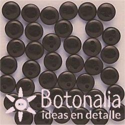 Botones negros 6 mm