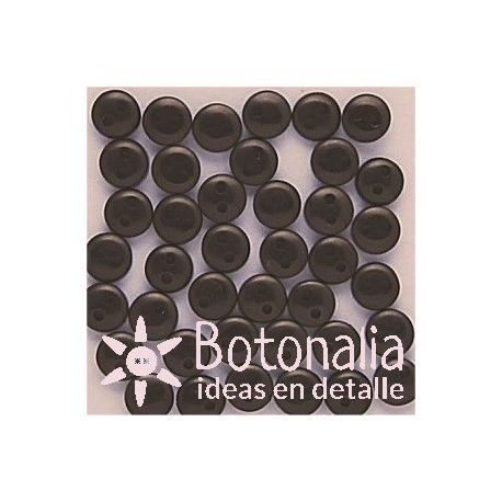 Buttons in black 6 mm