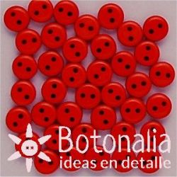Botones rojos 6 mm