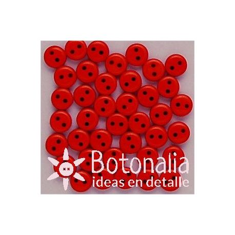Buttons in red 6 mm