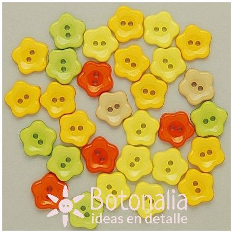 Little flowers 12 mm in summery shades