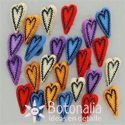 Tiny Buttons - Folk Hearts