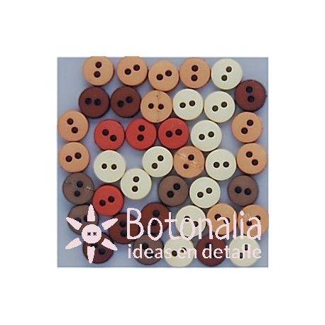 Botones pequeños - Colores naturales