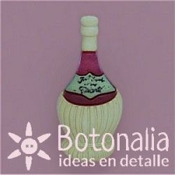Button bottle of wine