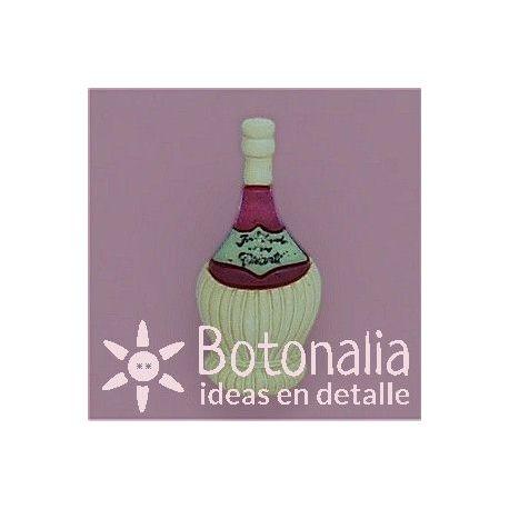 Botón botella de vino