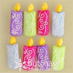Dress-it-Up - Button Fun - Candles