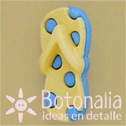 Button polka dot flip flops