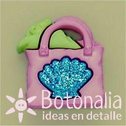 Button beach bag