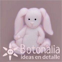Botón conejo rosa