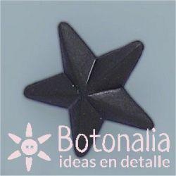 Botón estrella negra 22 mm