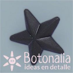 Button black star 22 mm