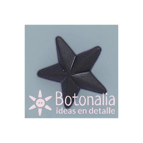Button black star 22 mm