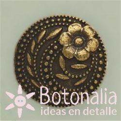 Dorado con flor - 17 mm