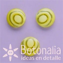 Yellow button (transparent) 12 mm
