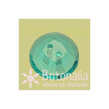Transparente facetado azul 15 mm