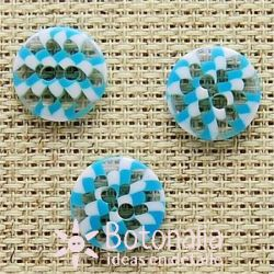 Transparent with blue and white 12 mm