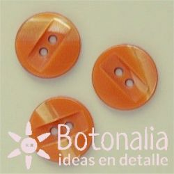 Marbled with rectangle 14 mm in orange