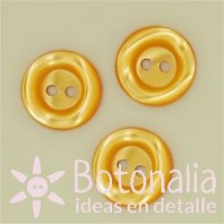 Round button - marbled 14 mm in yellow
