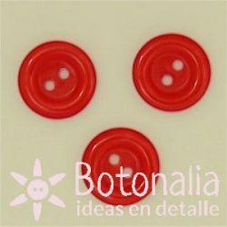Circular veteado 14 mm rojo