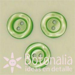 Circular veteado 14 mm verde