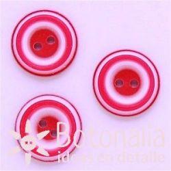 Circular en blanco y rosa 18 mm