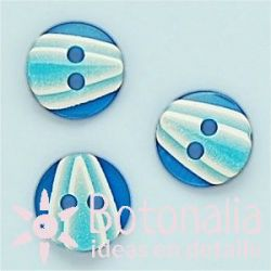 Circular en blanco y azul 11 mm