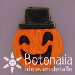 Halloween - Pumpkin with a hat 18 mm