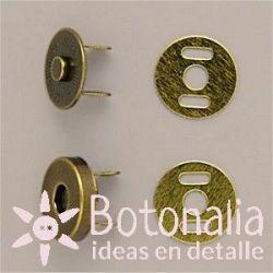 Cierre magnético oro viejo 14 mm