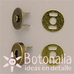 Magnetic closure old gold 14 mm