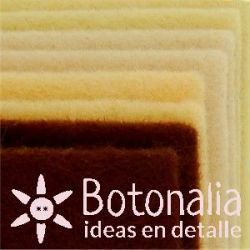 8 Felt sheets DINA4 - Natural colors